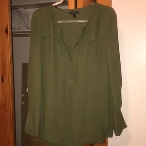 J. Crew olive green dress shirt/dress